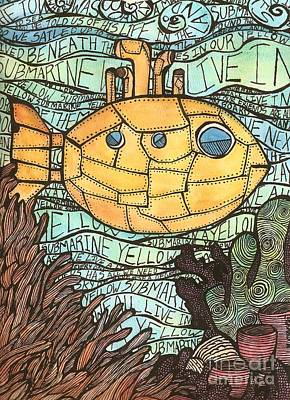 Yellow Submarine Print by Meagan  Visser