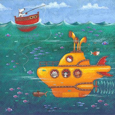 Yellow Submarine Print by Peter Adderley