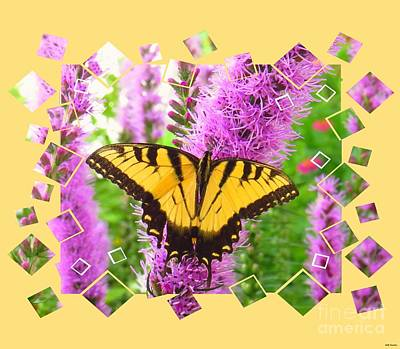Pink Photograph - Yellow Tiger Swallowtail by Scott Cameron