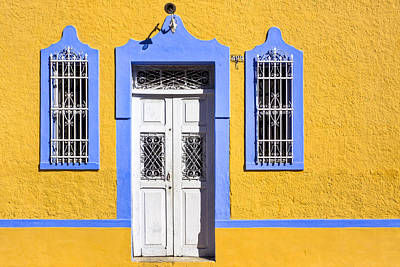 Doorway Photograph - Yellow Walls And Moorish Architecture In Mexico by Mark E Tisdale