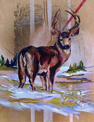 Painting - Yellowstone Buck by Andrea LaHue aka Random Act