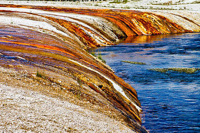 Photograph - Yellowstone Earthtones by Bill Gallagher