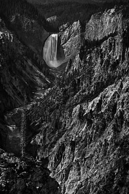 Rugged Photograph - Yellowstone Falls by Andrew Soundarajan