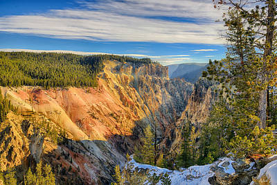 Grand View Of Nature Photograph - Yellowstone Grand Canyon East View by Greg Norrell