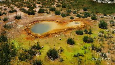 Yellowstone Hot Pool Print by Ausra Huntington nee Paulauskaite