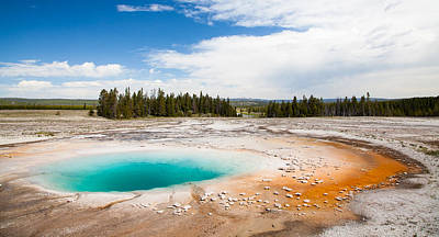 Yellowstone Prismatic Spring Print by Adam Pender