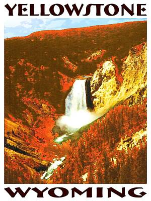 Yellowstone Wyoming Fall Foliage - Poster Print by Art America Online Gallery