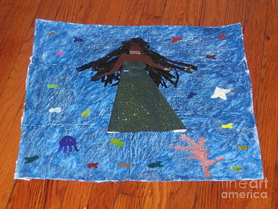 Yemaya Mixed Media - Yemaya Goddess Of The Sea by Maya  Rodriguez