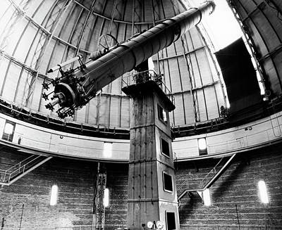 Yerkes 40-inch Refractor Print by Yerkes Observatory, University Of Chicago, Courtesy Emilio Segre Visual Archives/american Institute Of Physics