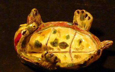 Sculpture - Yertel The Turtle by Debbie Limoli