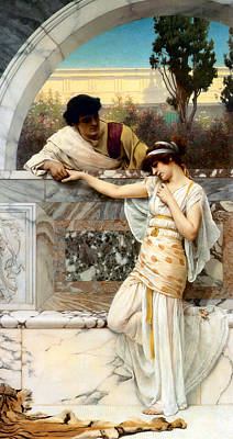 Yes Or No Print by John William Godward