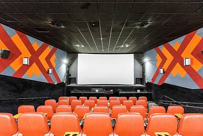 Empty Chairs Photograph - Yes Planet Movie Theatre by Photostock-israel