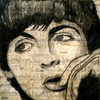 Paul Mccartney Mixed Media - Yesterday by Debi Starr