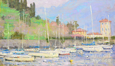 Lake Como Painting - Yesterday by Jerry Fresia