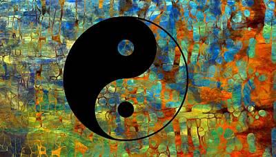 Yin Yang Abstract Print by Dan Sproul