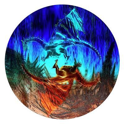 Dragon Photograph - Yin Yang Dragons by Carol & Mike Werner