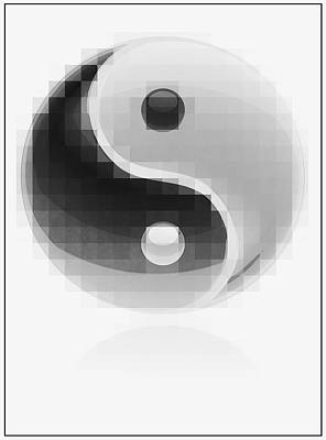 Yin Yang Mosaic Print by Daniel Hagerman