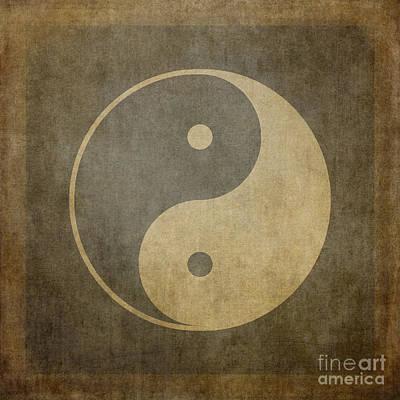 Yin Yang Vintage Print by Jane Rix