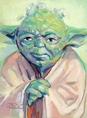 Stars Painting - Yoda by Kimberly Santini