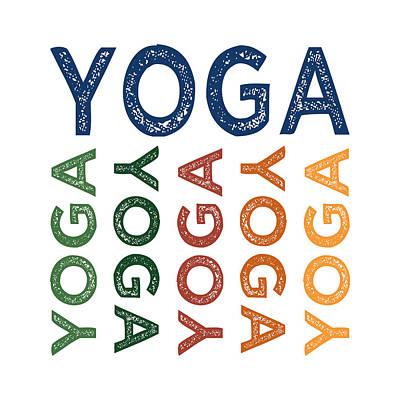 Yoga Cute Colorful Print by Flo Karp