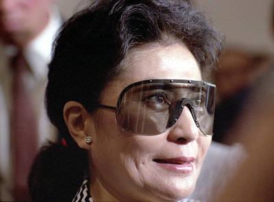 Yoko Ono Color Portrait 1986 Original by Nancy Clendaniel
