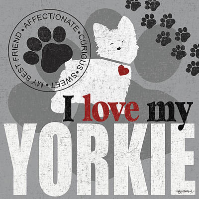 Yorkie Print by Kathy Middlebrook