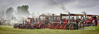 Yorkshire Steam And Flat Caps Panorama Print by John Potter
