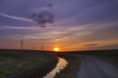 Yorkshire Sunset  Print by Chris Smith