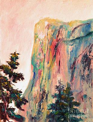 El Capitan Painting - Yosemite El Capitan by Carolyn Jarvis