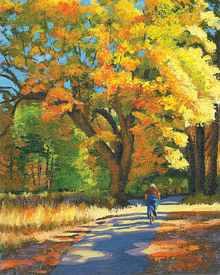 High Sierra Painting - Yosemite In Autumn by Alice Leggett