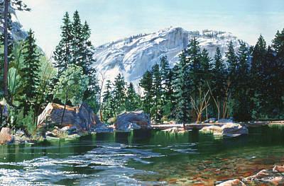 El Capitan Painting - Yosemite Mirror Lake by Lynn Hansen