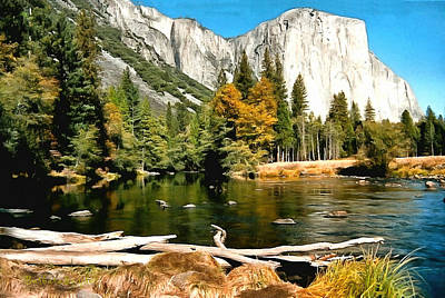Half Dome Painting - Half Dome Yosemite National Park by Barbara Snyder