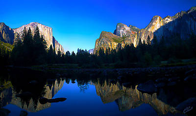 Digitally Manipulated Photograph - Yosemite Reflections by ABeautifulSky Photography