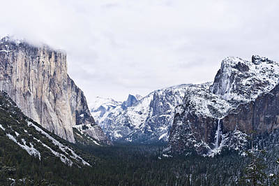 Tunnel View Photograph - Yosemite Tunnel View In Winter by Priya Ghose