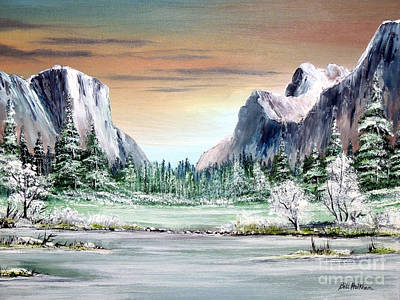 Valleys And Peaks Painting - Yosemite Valley Artist Point by Bill Holkham