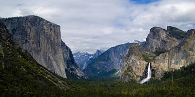 Tunnel View Photograph - Yosemite Valley Panoramic by Bill Gallagher