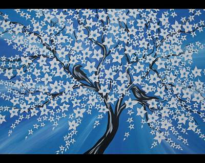 Cherry Blossoms Painting - You And Me by Cathy Jacobs
