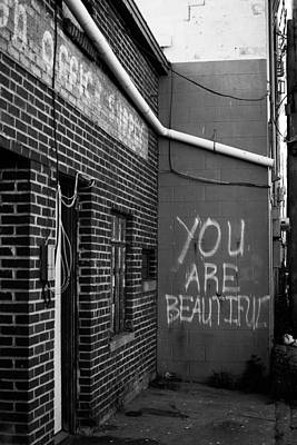 You Are Beautiful Print by Nathan Hillis