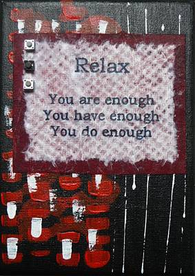 You Are Enough - 3 Print by Gillian Pearce