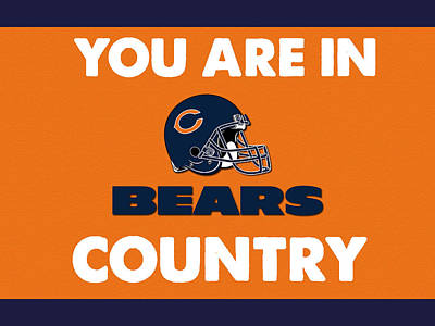 You Are In Bears Country Print by Celestial Images