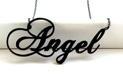 You Are My Angel Topography Necklace Original by Rony Bank