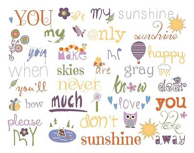 You Are My Sunshine Print by Sarah St Pierre