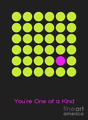 Lime Digital Art - You Are One Of A Kind by Aimelle