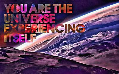 Truth Painting - You Are The Universe by Florian Rodarte