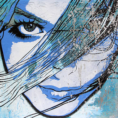 Comic Book Painting - You Can't Quit Me Baby by Bobby Zeik