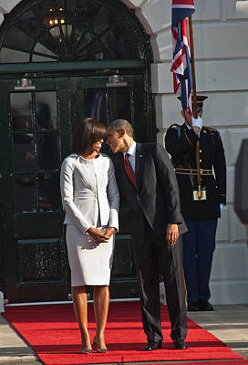 Michelle Obama Photograph - You Know I Love You by Douglas Adams