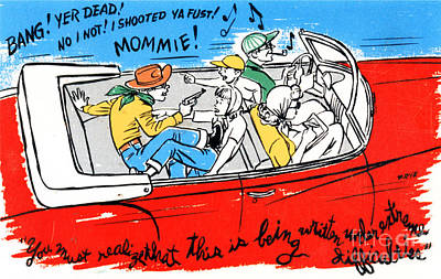 Family Car Drawing - You Must Realize That This Is Being Written Under Extreme Difficulties by Eldon Frye