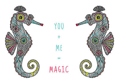 You Plus Me Equals Magic Print by Susan Claire