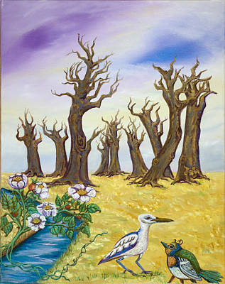 Fantasy Tree Art Painting - You Say What by Susan Culver