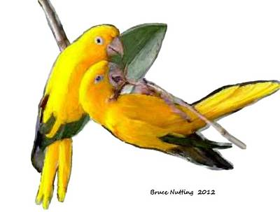 Bird Painting - You Should Share by Bruce Nutting